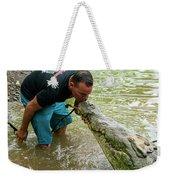 Kissing A Crocodile Weekender Tote Bag