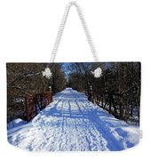 Kissing Bridge Trail Weekender Tote Bag