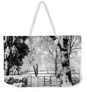 Kissing Gate In The Snow Weekender Tote Bag