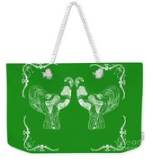 Kissing Roosters 3 Weekender Tote Bag