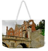 Kitchen Or Wren Bridge And St. Johns College From The Backs. Cambridge. Weekender Tote Bag