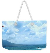 Kite Surfing With A Nevis Background Weekender Tote Bag