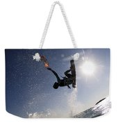 Kitesurfing In The Mediterranean Sea  Weekender Tote Bag by Hagai Nativ
