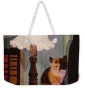 Kitten By The Lamp Weekender Tote Bag