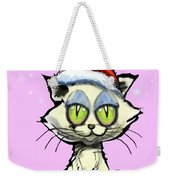 Kitten In Christmas Hat Weekender Tote Bag