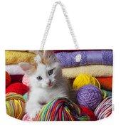 Kitten In Yarn Weekender Tote Bag