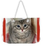Kitten Playing Santa  Weekender Tote Bag