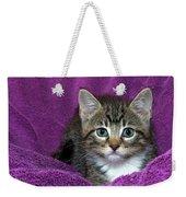 Kitten, Purr-fect In Purple Weekender Tote Bag