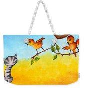Kitten Scaring The Birds Weekender Tote Bag