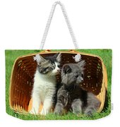 Kitten Smells Something Good Weekender Tote Bag
