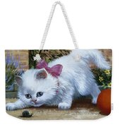 Kitten With Snail And Ball Weekender Tote Bag