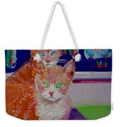 Kittens With Wild Wallpaper Weekender Tote Bag
