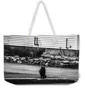 Kitty Across The Street Black And White Weekender Tote Bag