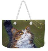 Kitty And The Dragonfly Close-up Weekender Tote Bag