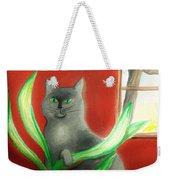 Kitty In The Plants Weekender Tote Bag