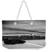 Kitty In The Street Black And White Weekender Tote Bag