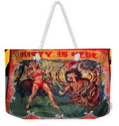 Kitty Is Here Weekender Tote Bag