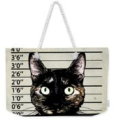 Kitty Mugshot Weekender Tote Bag