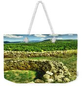Kiva And View Pecos Ruins New Mexico Weekender Tote Bag