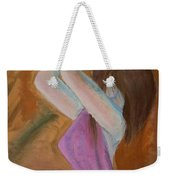 Kneeling Lady  Weekender Tote Bag