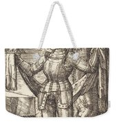 Knight In Armour With Bread And Wine Weekender Tote Bag