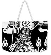 Knight Of Arthur, Preparing To Go Into Battle Weekender Tote Bag