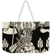 Knight Of Arthur, Preparing To Go Into Battle, Illustration From Le Morte D'arthur By Thomas Malory Weekender Tote Bag
