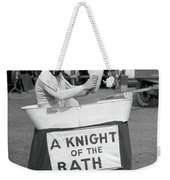 Knight Of The Bath Weekender Tote Bag