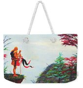 Knight On A Cliff Weekender Tote Bag
