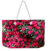 Knockout Red Rosebush Weekender Tote Bag