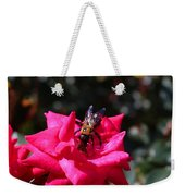 Knockout Rose And Bumblebee Weekender Tote Bag