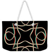 Knotplot 11 - Use Red-cyan 3d Glasses Weekender Tote Bag