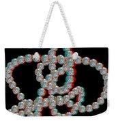 Knotplot 5 - Use Red-cyan 3d Glasses Weekender Tote Bag