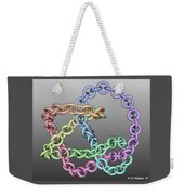 Knotplot 8 - Use Red-cyan 3d Glasses Weekender Tote Bag