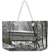 Knox Valley Forge Covered Bridge In Winter Weekender Tote Bag