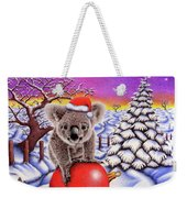 Koala On Christmas Ball Weekender Tote Bag