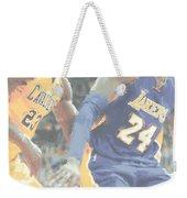 Kobe Bryant Lebron James 2 Weekender Tote Bag