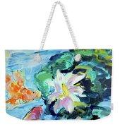 Koi Fish And Water Lilies Weekender Tote Bag