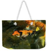 Koi Fish Blowing Bubbles Weekender Tote Bag