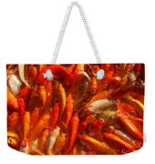 Koi Fishes In Feeding Frenzy Weekender Tote Bag