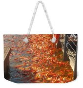 Koi Fishes In Feeding Frenzy Part Two Weekender Tote Bag