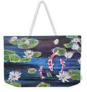Koi In Lilly Pond Weekender Tote Bag