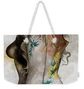 Koi No Yokan - Erotic Drawing, Sexy Tattoo Girl In Thong Biting An Apple Weekender Tote Bag