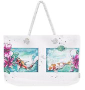 Koi Of The Tropics Weekender Tote Bag