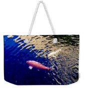 Koi On Blue And Gold Weekender Tote Bag