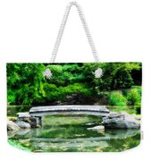 Koi Pond Bridge - Japanese Garden Weekender Tote Bag
