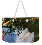 Koi Pond Reflection Weekender Tote Bag