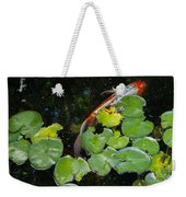 Koi With Lily Pads A Weekender Tote Bag