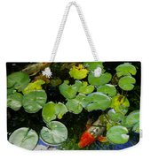 Koi With Lily Pads D Weekender Tote Bag