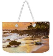 Koki Beach Sunrise Weekender Tote Bag by Inge Johnsson
